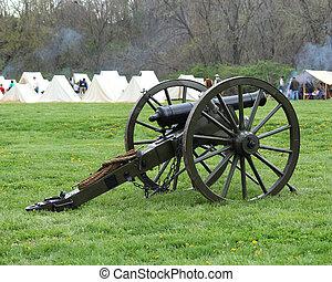 Civil War Cannon at the camp - Civil War cannon at...