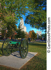 Civil War Cannon - Civil War Memorial Park in Memphis, TN.