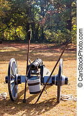 Civil War Cannon - Civil War cannon at the ready on the...