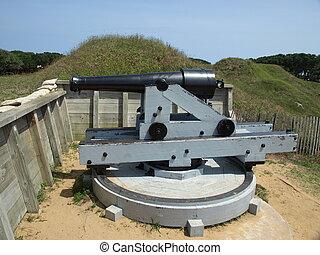 Civil war cannon - Old civil war cannon in a North Carolina...