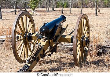 Civil War Cannon - Antique Civil War cannon on the...