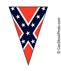 Civil War Confederate Flag As Bunting Triangle