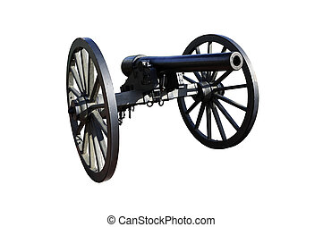 Civil War Era Cannon against White - Civil War era cannon...