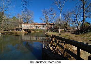 The historic Kymulga Bridge and Grist Mill - Civil war era ...