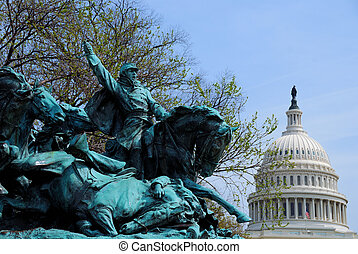 Civil War Memorial, Washington DC - The Age of Hero of Civil...