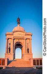 Civil war monument in Gettysburg