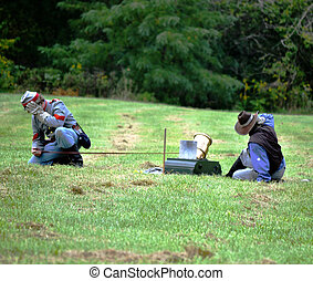 Civil war re-enactment - fire in the hole