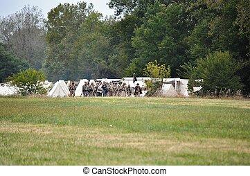 Civil War Re-enactment - Rebel Camp