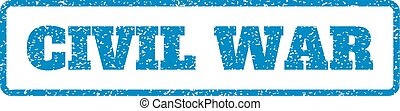Civil War Rubber Stamp - Blue rubber seal stamp with Civil ...