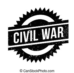 Civil War rubber stamp. Grunge design with dust scratches. Effects can be easily removed for a clean, crisp look. Color is easily changed.