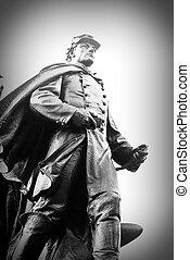 Statue of Civil War Soldier.