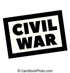 CIVIL WAR stamp on white. Stamps and advertisement labels ...