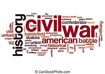 Civil war word cloud