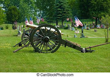 civile, cannone, guerra