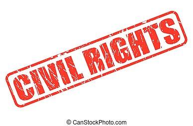 civile, francobollo, diritti, rosso, testo