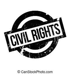 civile, gomma, diritti, francobollo