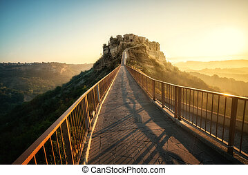 Civita di Bagnoregio, beautiful old town in Italy.