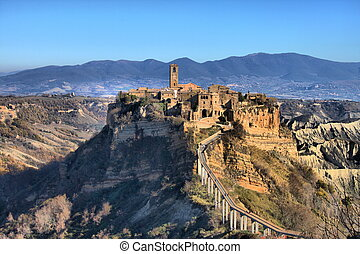 Civita di Bagnoregio, the dying city near Rome, Italy