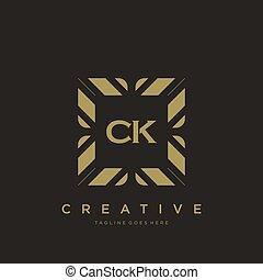 CK initial letter luxury ornament monogram logo template ...
