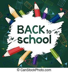 ck to school background pencils