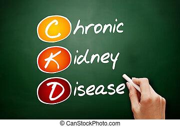 CKD - Chronic Kidney Disease, acronym health concept on...