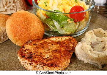 ckicken, comida, filete
