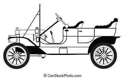 clásico, automóvil