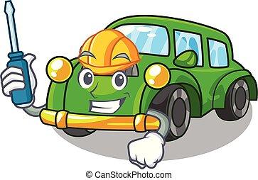 clásico, automotor, forma, juguetes, caricatura, coche