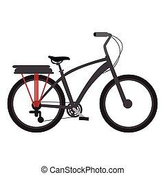 clásico, bicicleta, icono