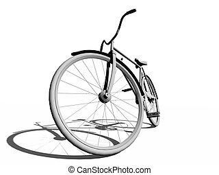 clásico, bicicleta