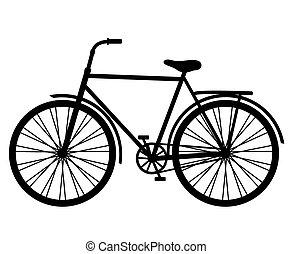 clásico, bicicleta, vector