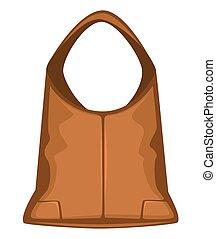 clásico, bolso, hecho, mujeres, bolsa, cuero