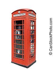 clásico, británico, teléfono