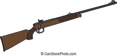 clásico, caza, rifle