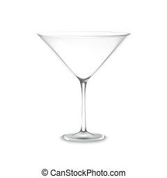 clásico, cristal de martini