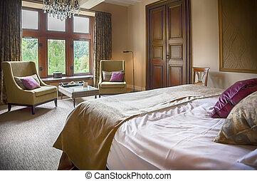clásico, habitación de hotel