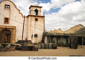 clásico, mexicano, rural, estilo viejo