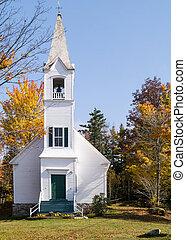 clásico, nueva inglaterra, iglesia, capilla