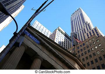 clásico, ny, -, wall street