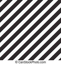 clásico, patrón, líneas, diagonal, vector, diseño, black.