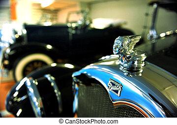 clásico, viejo, 1932, buick