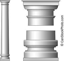clássicas, antiga, coluna