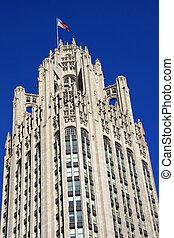 clássicas, arquitetura, neo-gótico
