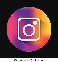 clássicas, emblema, instagram, ícone