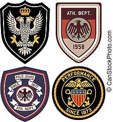 clássicas, emblema real, emblema, escudo