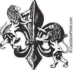 clássicas, emblema real