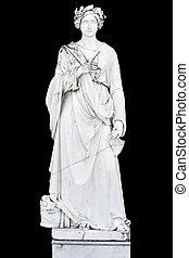 clássicas, grego, estátua, de, astarte, deusa