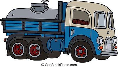 clássicas, leiteria, engraçado, caminhão tanque