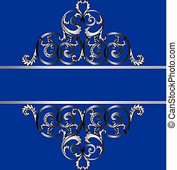 clássicas, ornamento, real, convite, prata, cartão