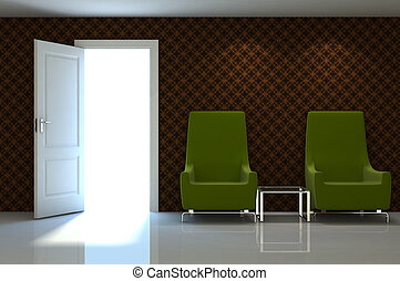 clássicas, parede, xxx, cena, sofá, interior, 3d